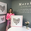 Thumbnail: Box Frame happy heart 20 x 20 print