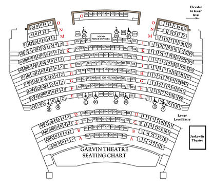 Garvin Theatre Seating Plan