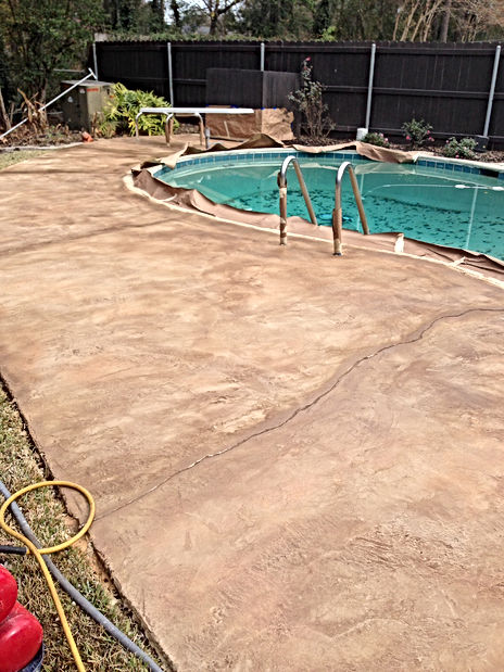 after pool deck overlay