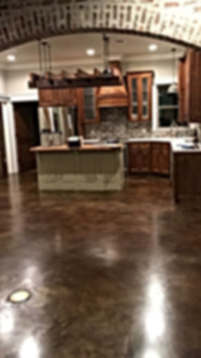 New construction stained concrete