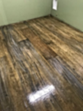 Wood Look, Stained concrete new construction