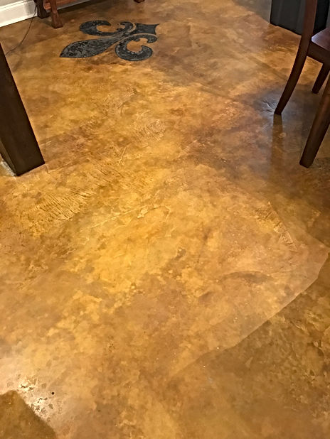 Overlay with stain and burnish