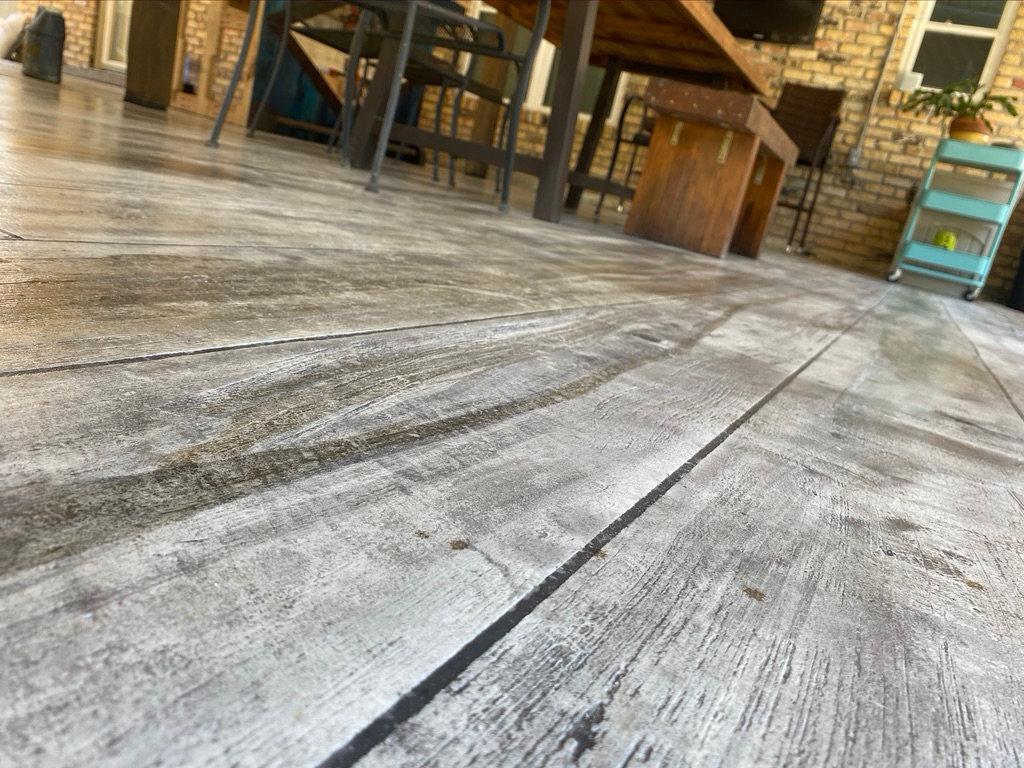 "CMD's ""Wood Look""Concrete overlay"