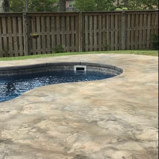 exterior overlay pool deck