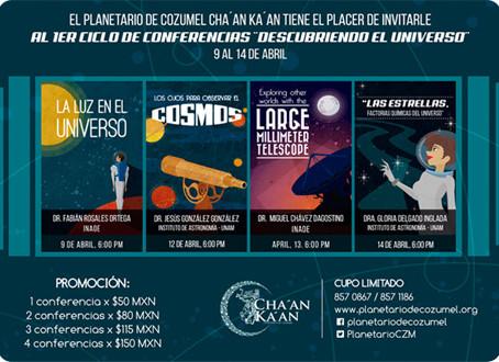 """El Planetario de Cozumel anuncia el 1er Ciclo de Conferencias """"Descubriendo el Universo"""""""