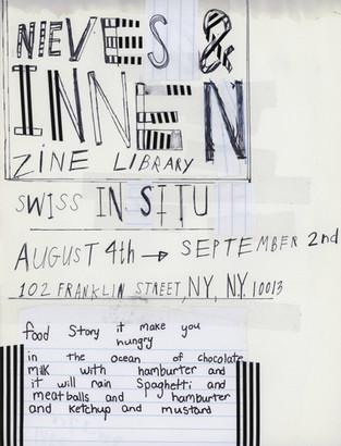 〖NY〗Nieves and Innen Zine Library 2016