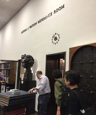 〖NY〗Visit and presentation in The Met Library, 2017