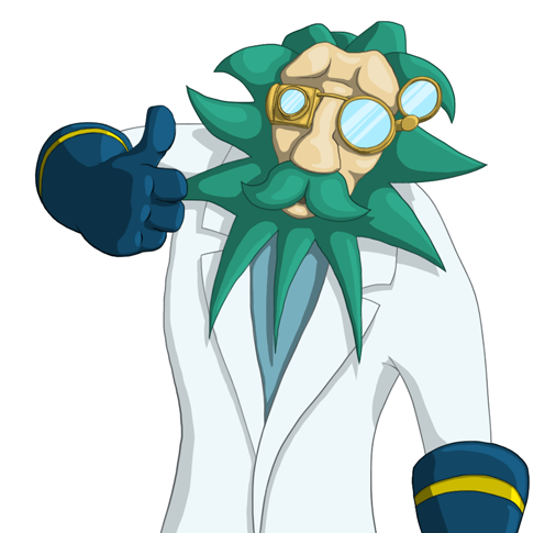 Prof. Helix Character Design