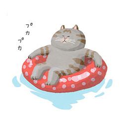 浮き輪でぷかぷか