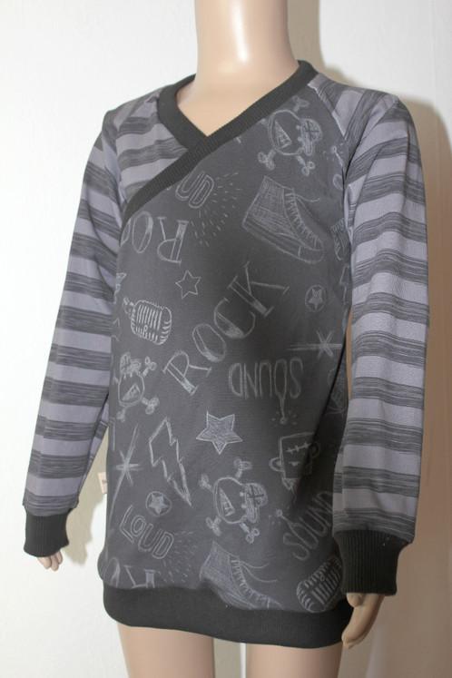Pullover/Kleid in Wickeloptik, Gr. 116-140