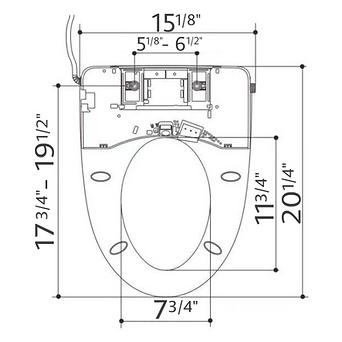 LuxyLoo Bidet Attachment Dimensions