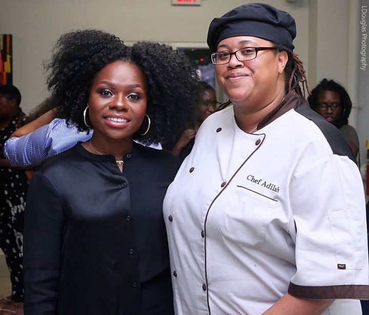 CEO of CurlBox _myleik _curlBOX. Was an honor for _adilahscatering to provide our services for the E