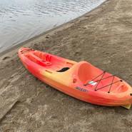 Single open kayak