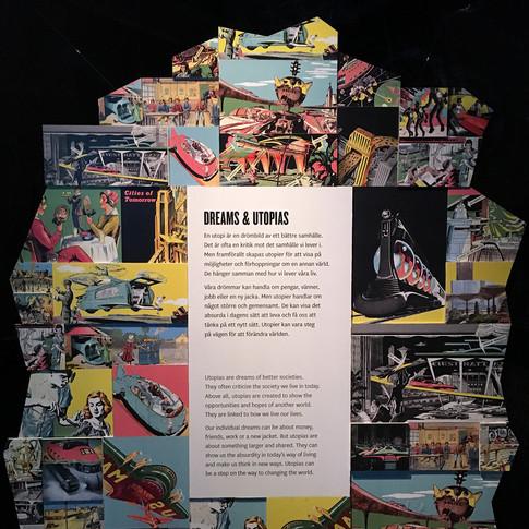 Här fick jag skapa ett bildcollage för tillhörande text. Det var ett omfattande arbete som innehöll mycket bildresearch och bildretuschering.