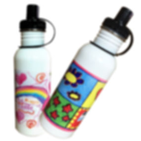 Refillable Personalised Drink Bottles