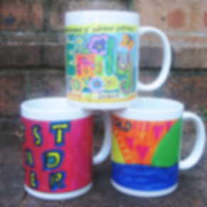 Colourful personalised mug for your next school fundraiser