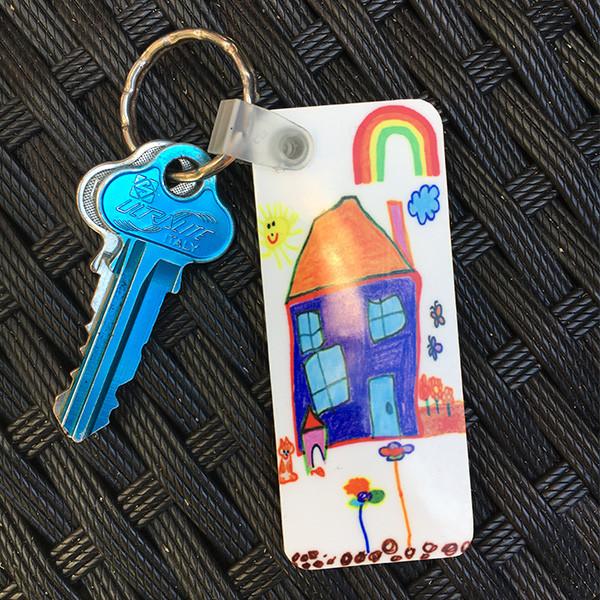 Printed Kids Art Key Ring