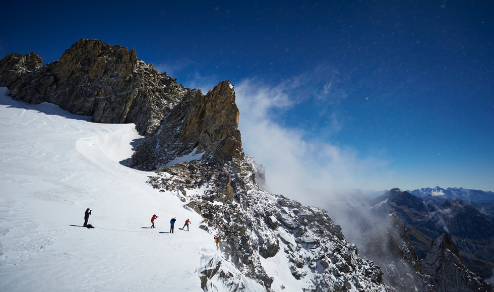 Mont Blanc Glacier in Courmayeur Italy