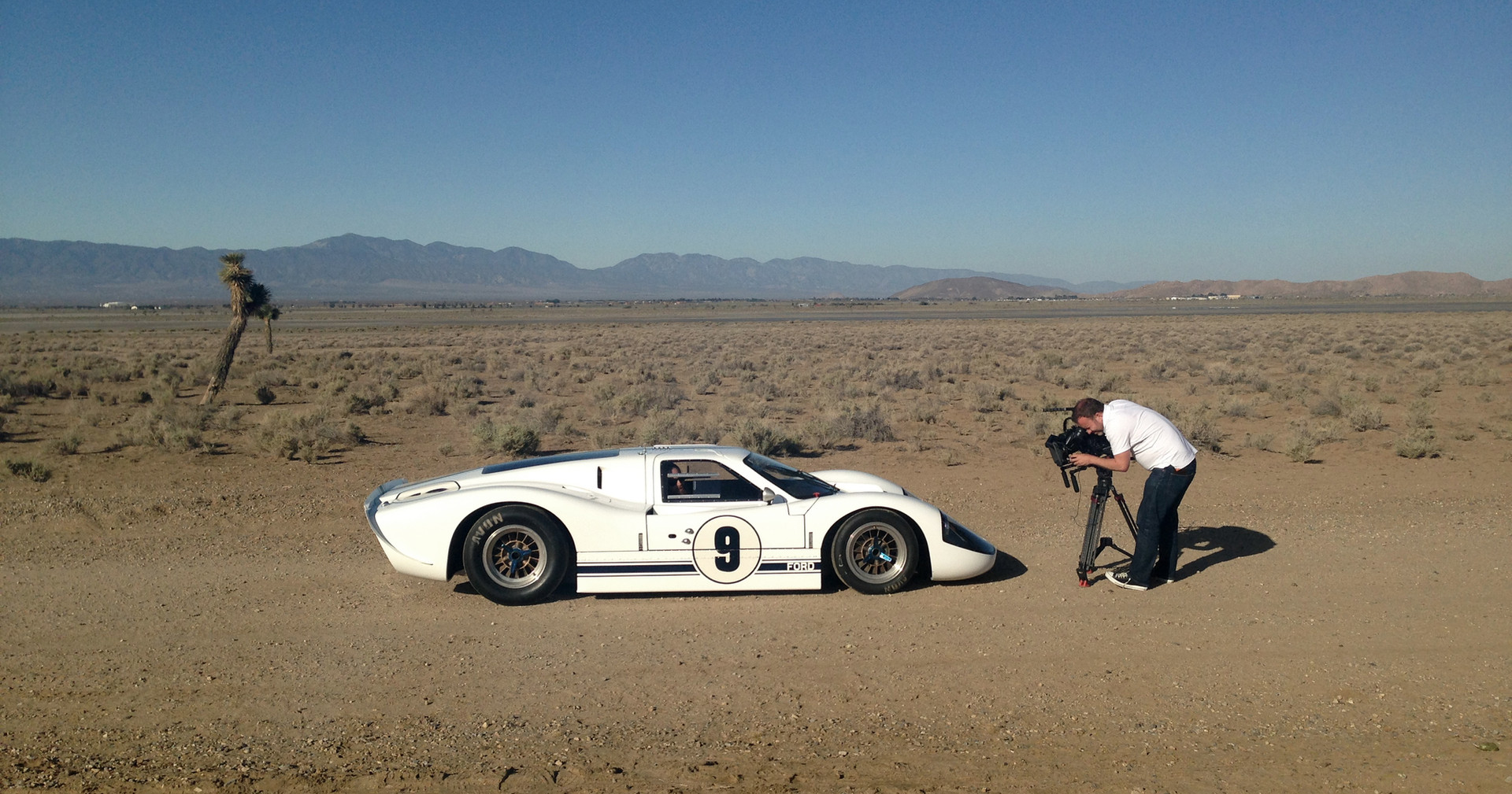 Ford GT40 in the El Mirage Desert