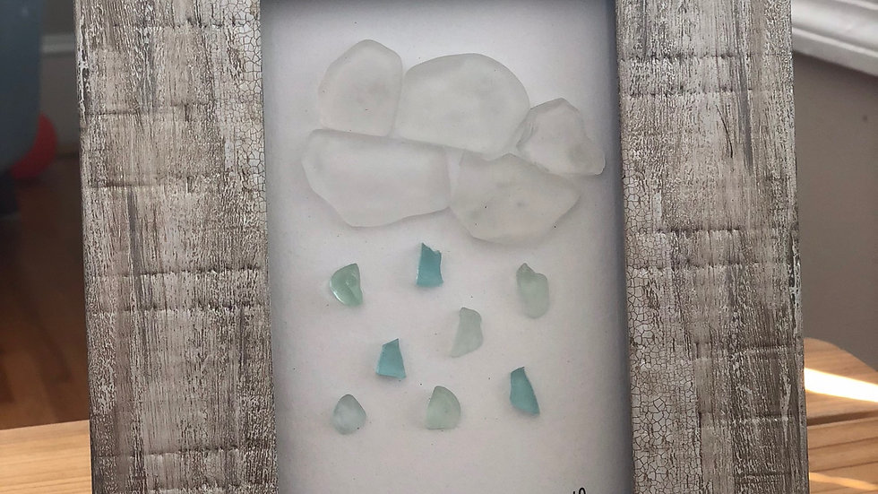 Sea Glass Rain Cloud