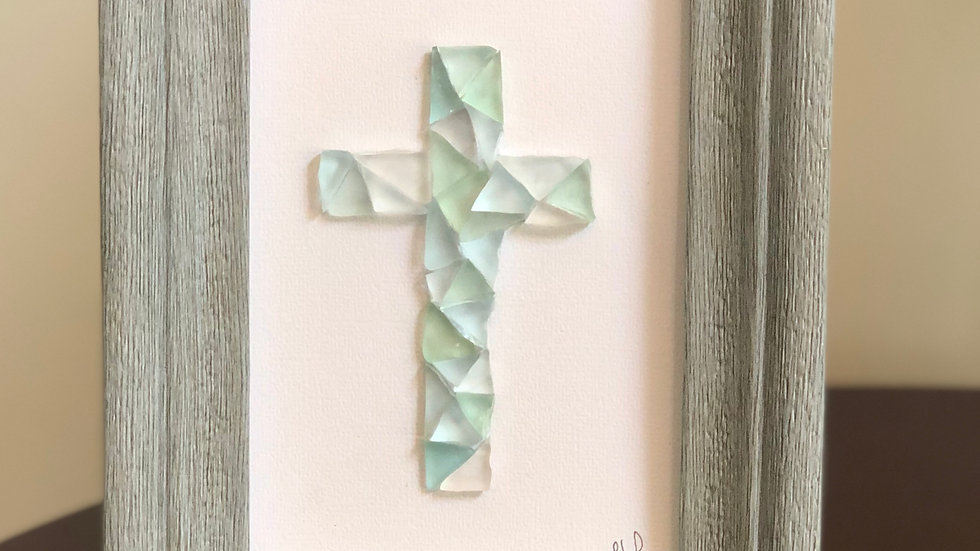 Sea Glass Cross