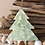 Thumbnail: Christmas aqua tree ornament