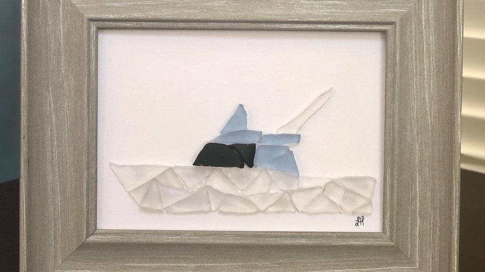 Sea Glass Fishing Boat