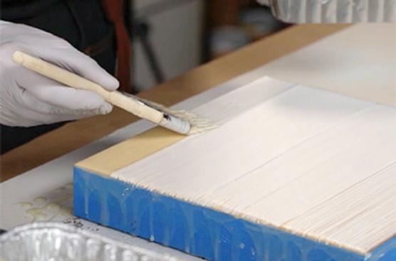 Priming an encaustic panel