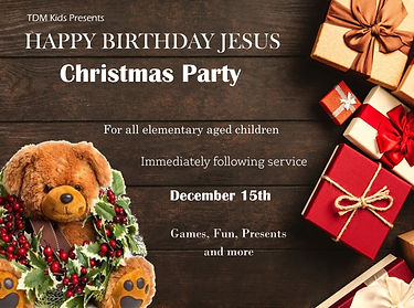 Childrens Christmas party flyer 2019 eng