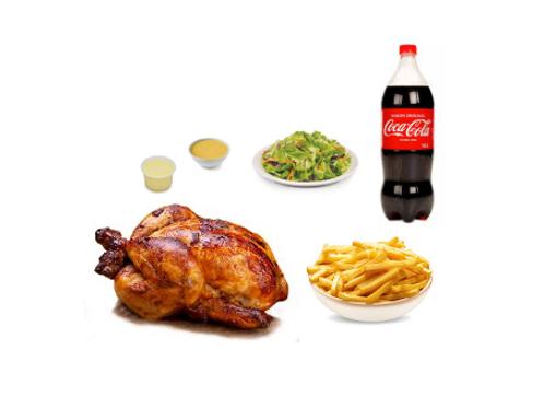 Promo 1 - Pollo a las brasas + Inca Kola 1.5 L
