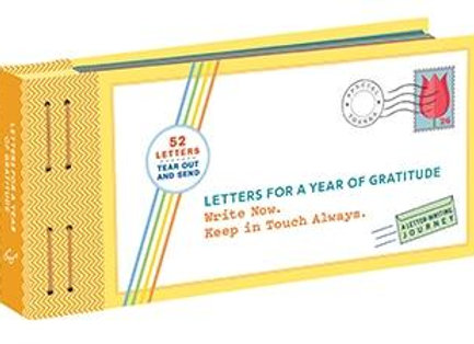 Letter For A Year Of Gratitude Write Now. Keep in Touch Always