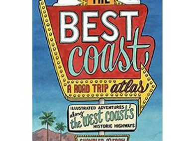 """""""The Best Coast, A Road Trip Atlas"""" softcover"""