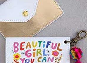 Beautiful Girl Card Holder 3in x 4 in