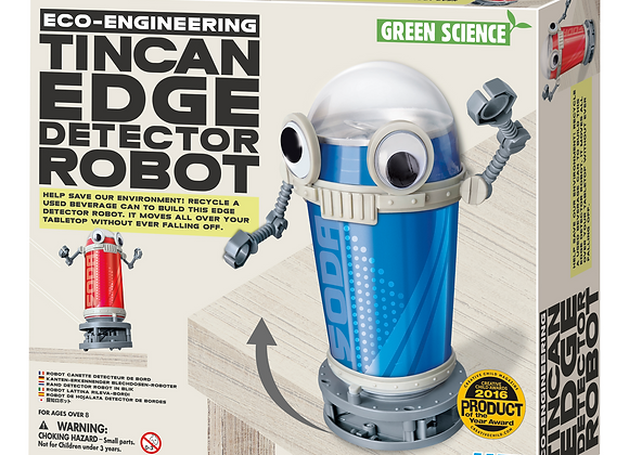 Green Science Tin Can Edge Detector Robot