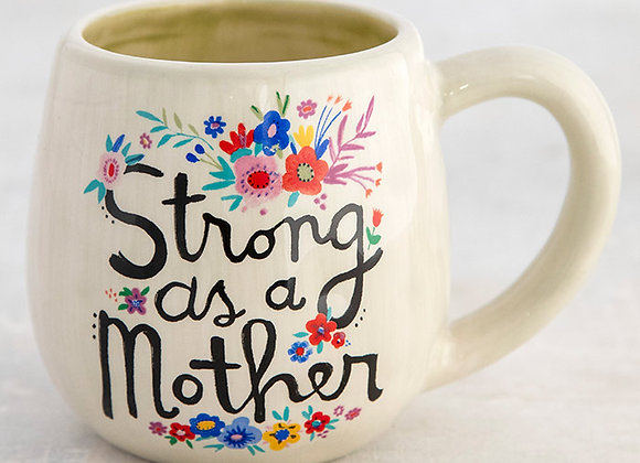 Hand molded and hand painted ceramic mug. Dishwasher Safe 6oz