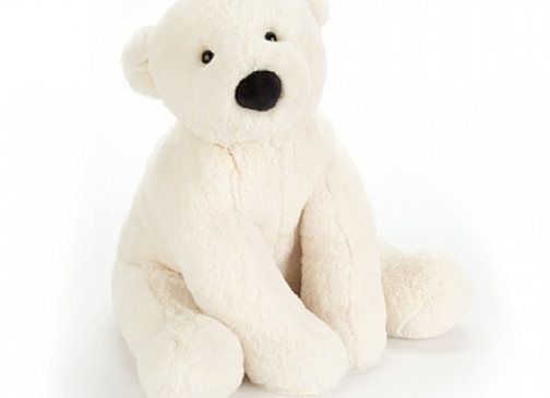 "Jellycat Perry Polar Bear Small 8"""