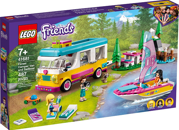Friends Forest Camper Van and Sailboat