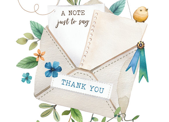Blank Boxed Thank You Notes 16 cards & envelopes