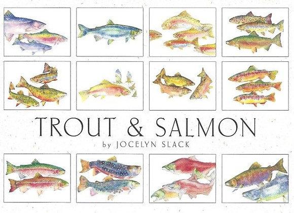 Crane Creek Blank Notecards Trout & Salmon