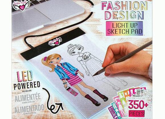 LED Light Up Fashion Design Sketch Pad