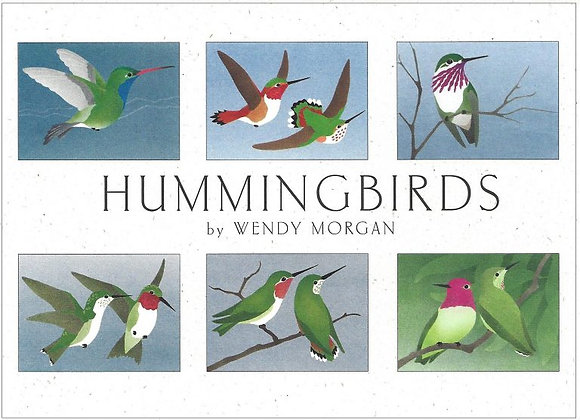 Crane Creek Blank Notecards Hummingbirds