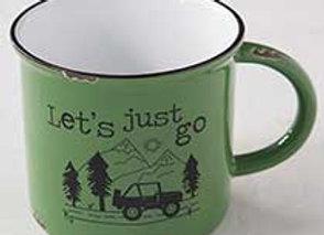 Camp Mug, ceramic & double sided 16 oz