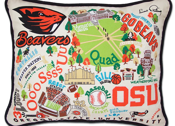 Oregon State University Embroidered Pillow