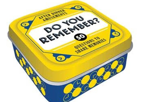 After Dinner Amusements: Do You Remember