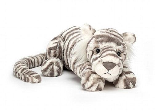 "Jellycat Sasha Snow Tiger Little 11"""