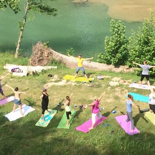 Ladies Escape Yoga on the Blanco