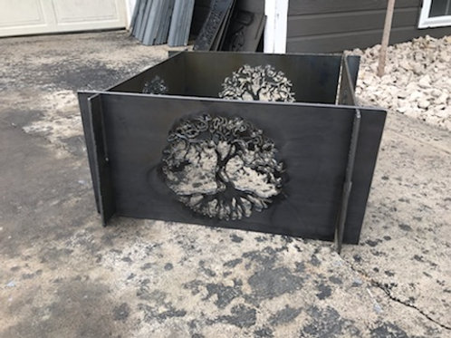 Large Portable Metal Fire Pit-Tree of Life Fire Pit-Free Shipping