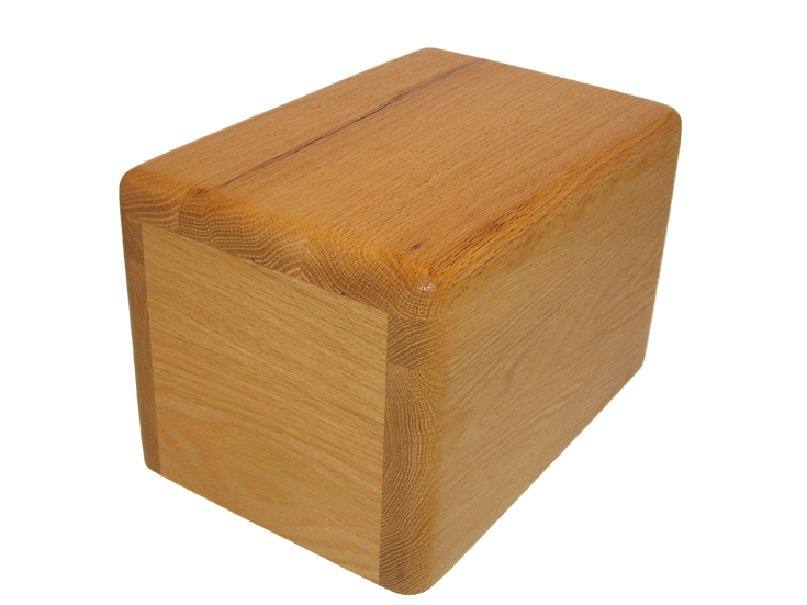 WOODEN OAK LEO BURIAL URN