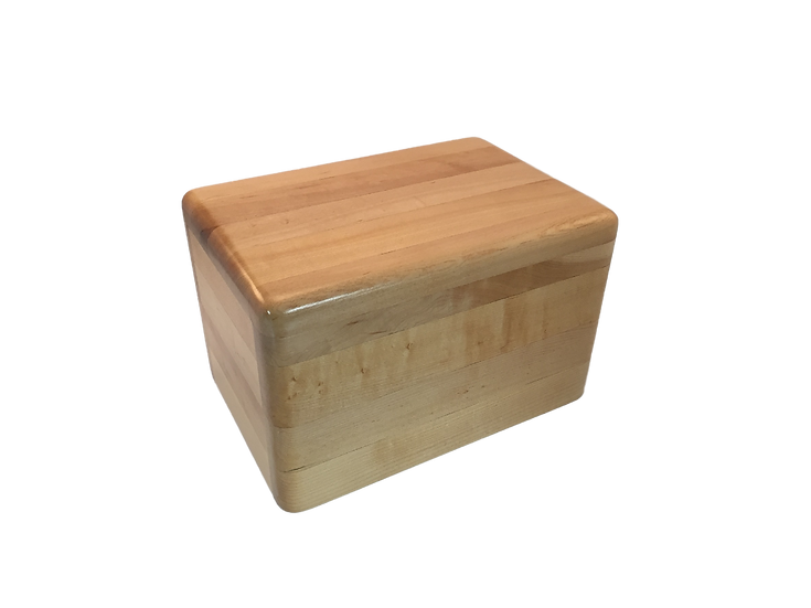LEO WOODEN MAPLE BURIAL URN
