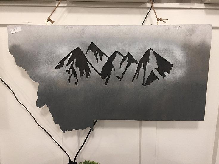MONTANA MOUNTAINS WALL DECOR-GRAY SKIES THEME